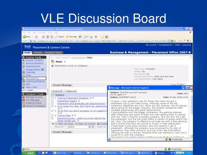 VLE Discussion Board