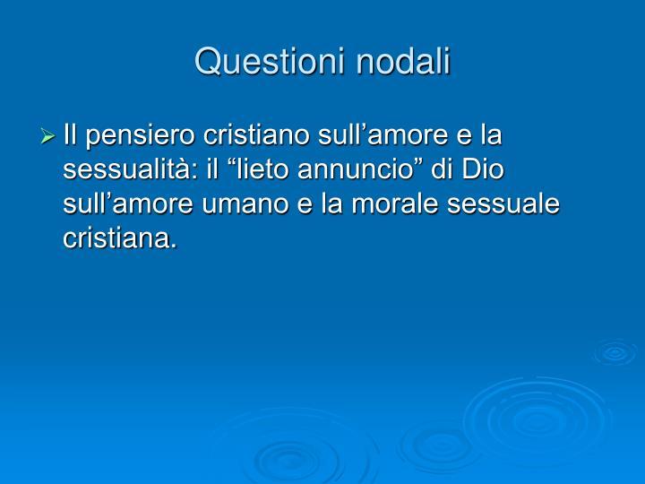 Questioni nodali