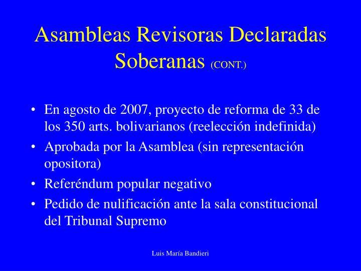 Asambleas Revisoras Declaradas Soberanas