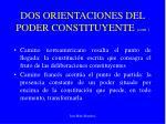 dos orientaciones del poder constituyente cont