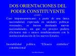 dos orientaciones del poder constituyente cont2