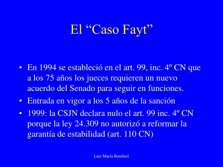 """El """"Caso Fayt"""""""