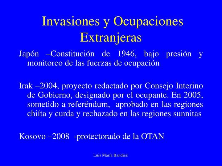 Invasiones y Ocupaciones Extranjeras