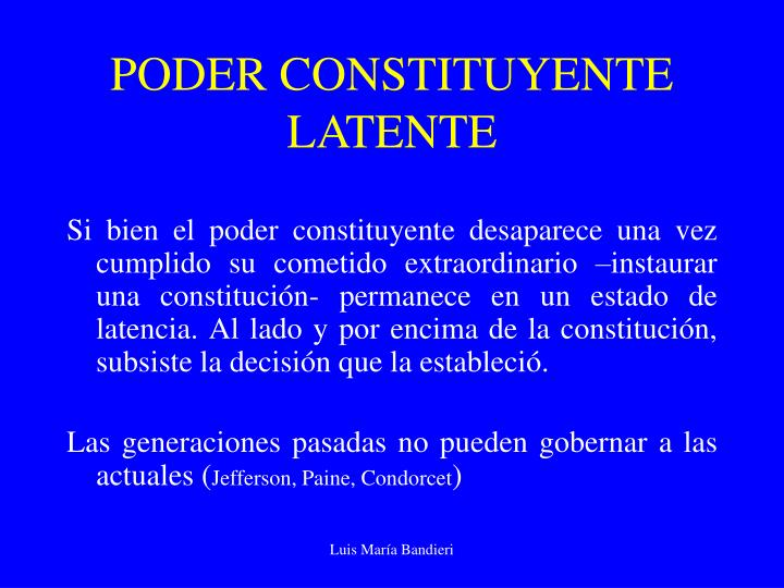 PODER CONSTITUYENTE LATENTE
