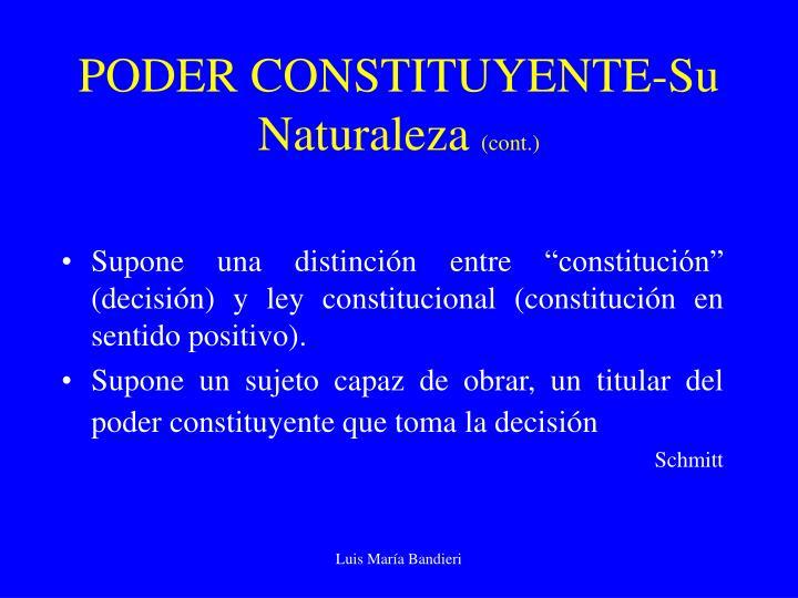 PODER CONSTITUYENTE-Su Naturaleza