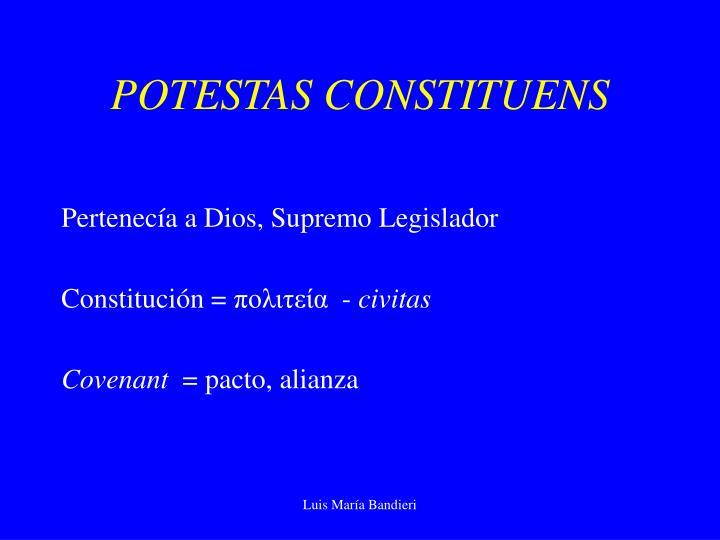 POTESTAS CONSTITUENS