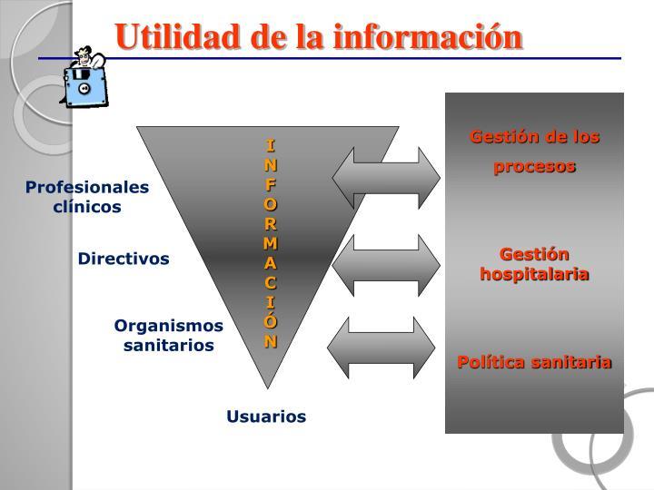 Utilidad de la información