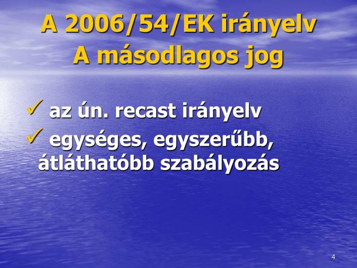 A 2006/54/EK irányelv