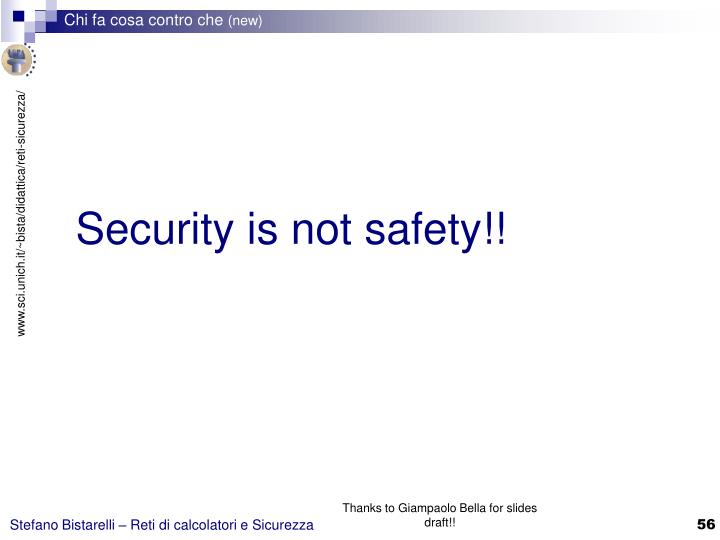 Security is not safety!!