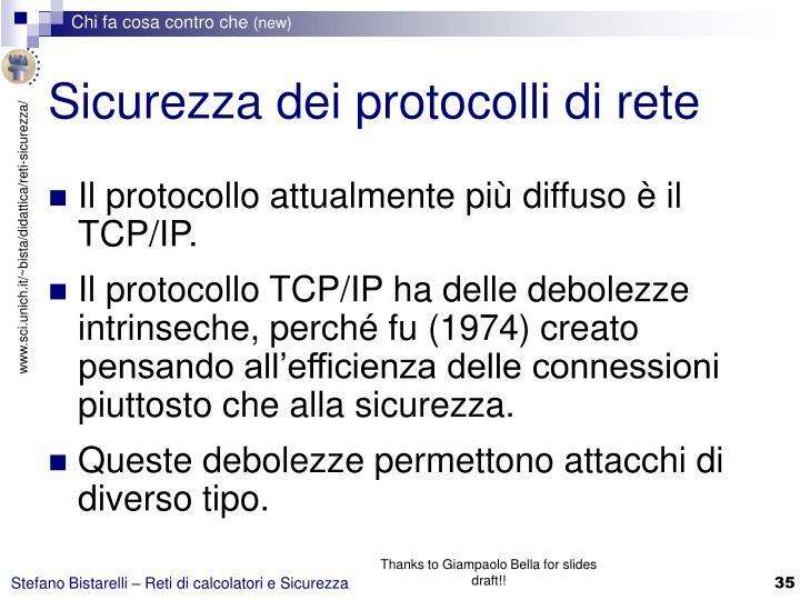 Sicurezza dei protocolli di rete