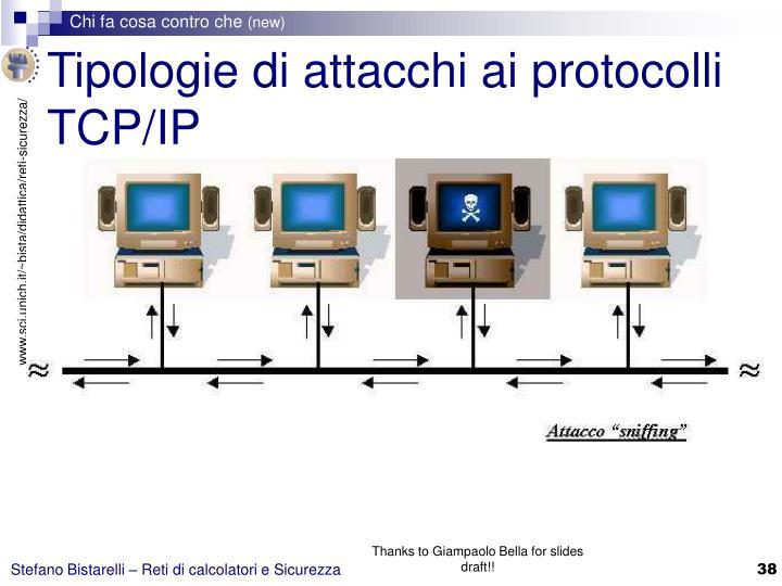 Tipologie di attacchi ai protocolli TCP/IP