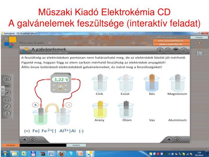 Műszaki Kiadó Elektrokémia CD