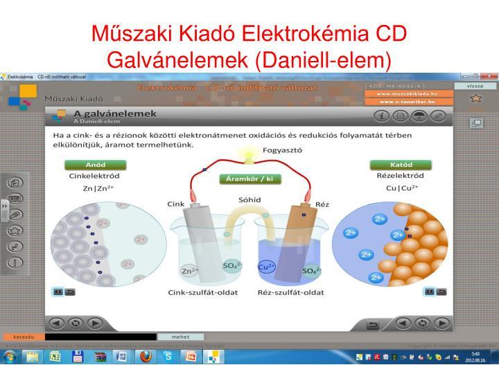 Műszaki Kiadó Elektrokémia CD Galvánelemek (Daniell-elem)