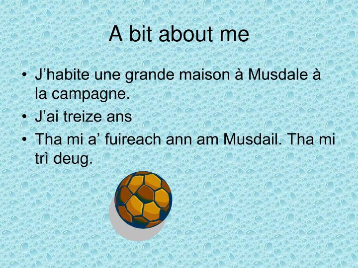 A bit about me