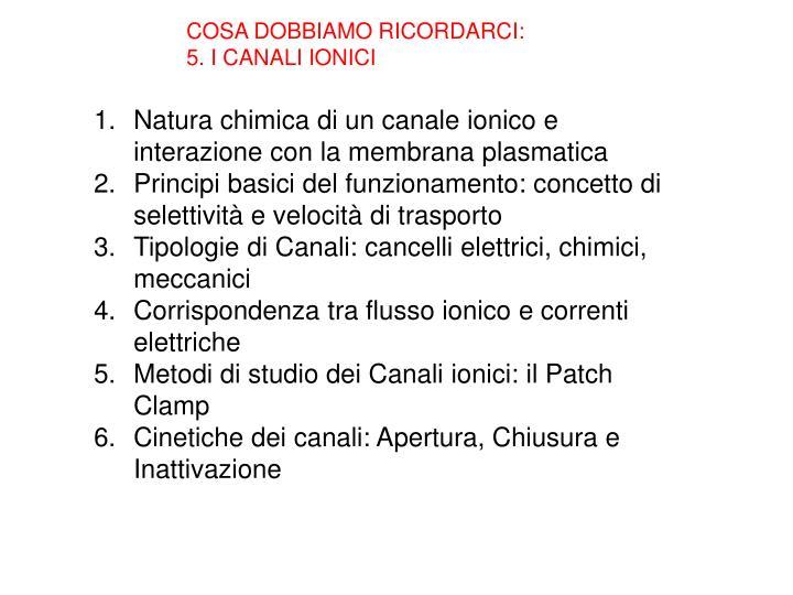 COSA DOBBIAMO RICORDARCI: