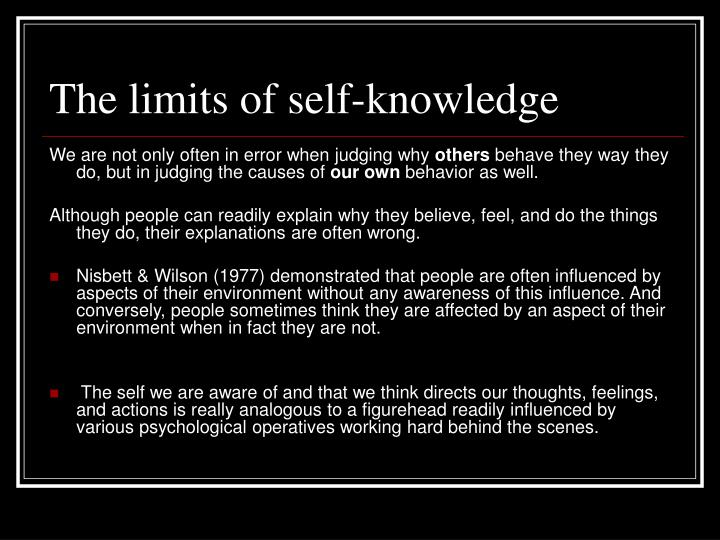 The limits of self-knowledge