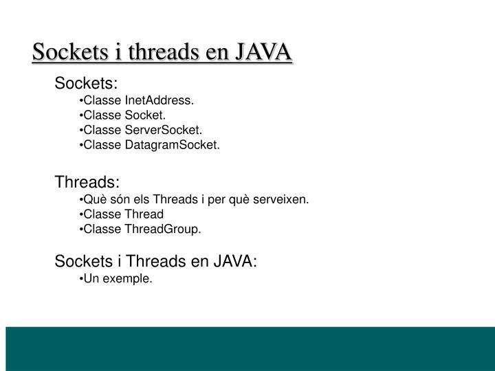 Sockets i threads en JAVA
