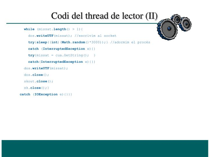 Codi del thread de lector (II)