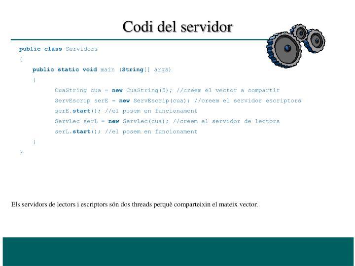 Codi del servidor