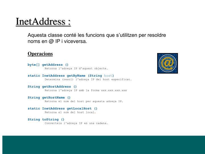 InetAddress :