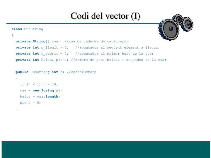 Codi del vector (I)