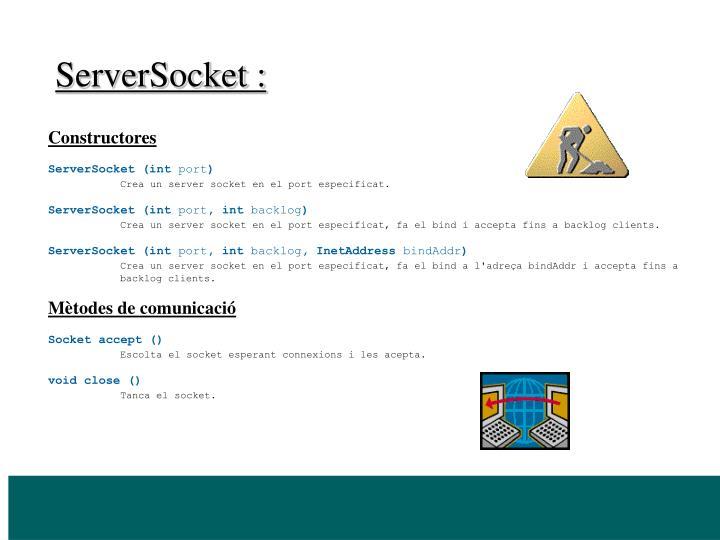 ServerSocket :