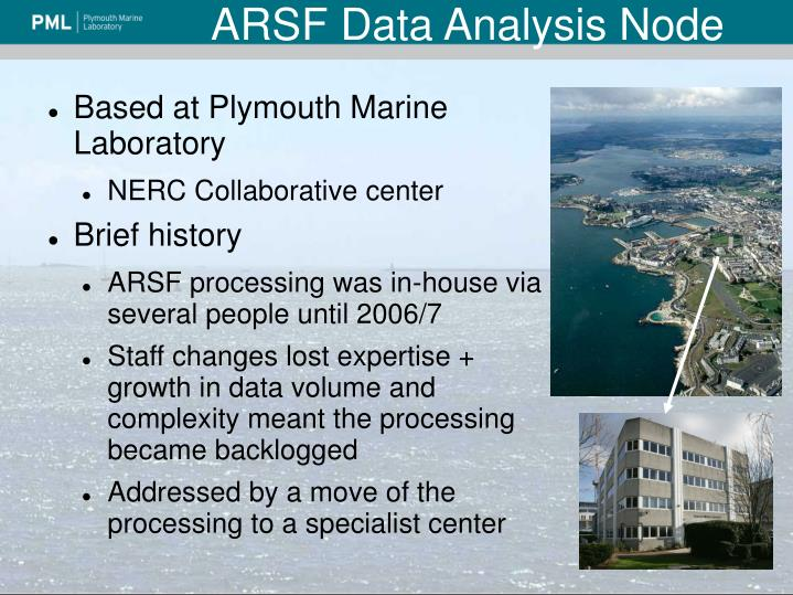 Arsf data analysis node1