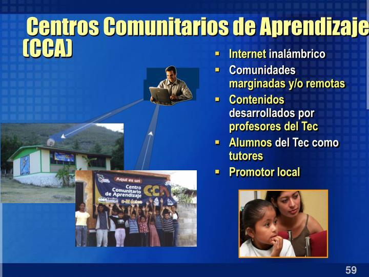 Centros Comunitarios de Aprendizaje (CCA)