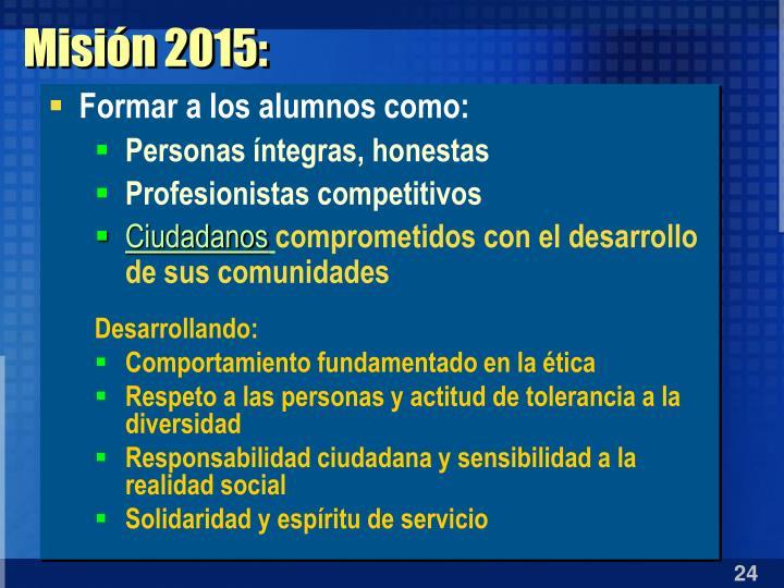 Misión 2015: