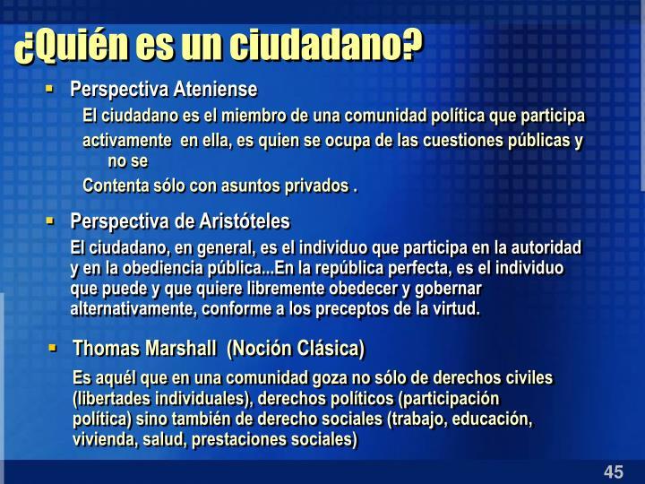 ¿Quién es un ciudadano?