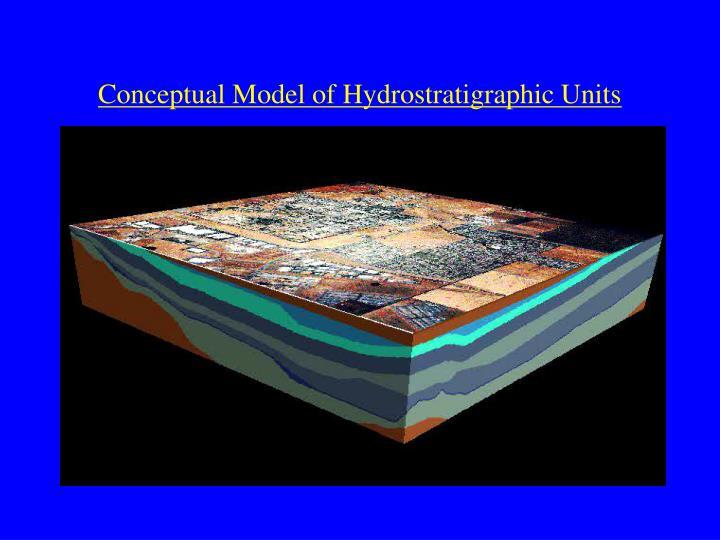 Conceptual Model of Hydrostratigraphic Units