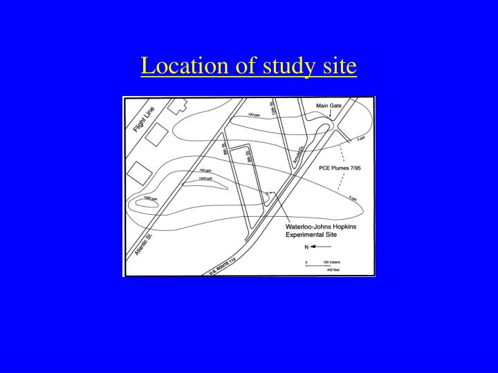 Location of study site