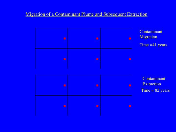 Migration of a Contaminant Plume and Subsequent Extraction