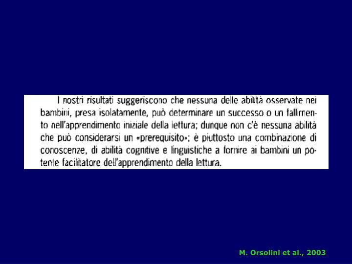 M. Orsolini et al., 2003