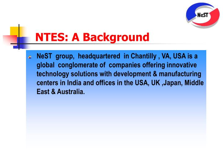 NTES: A Background