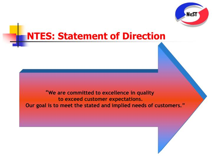 NTES: Statement of Direction