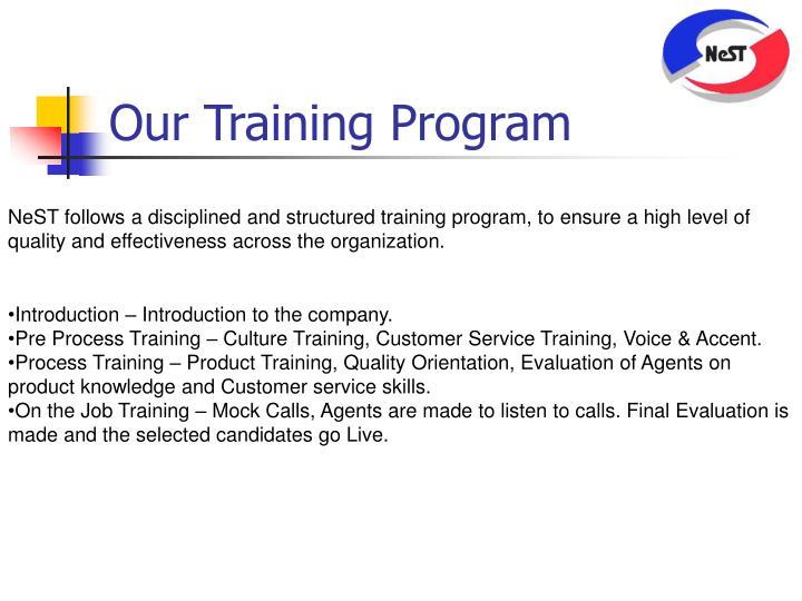 Our Training Program