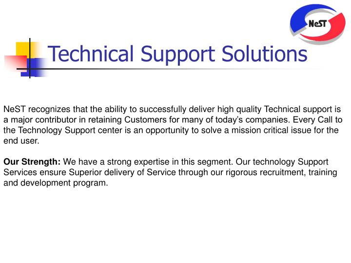 Technical Support Solutions