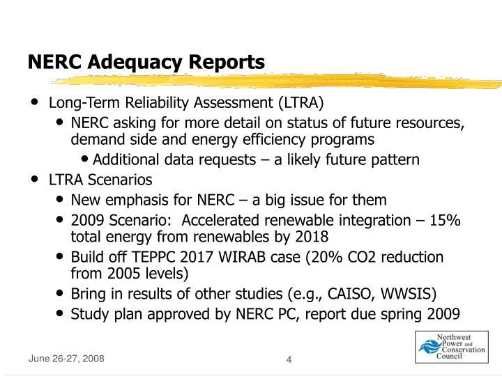 NERC Adequacy Reports