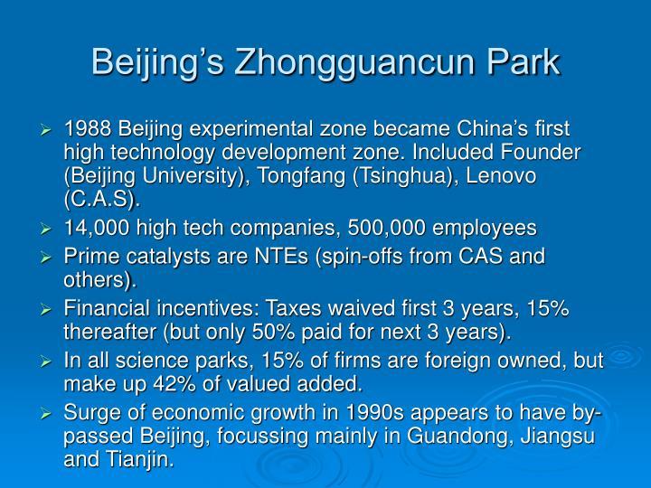 Beijing's Zhongguancun Park