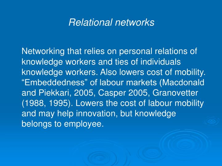Relational networks