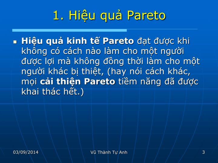 1. Hiệu quả Pareto
