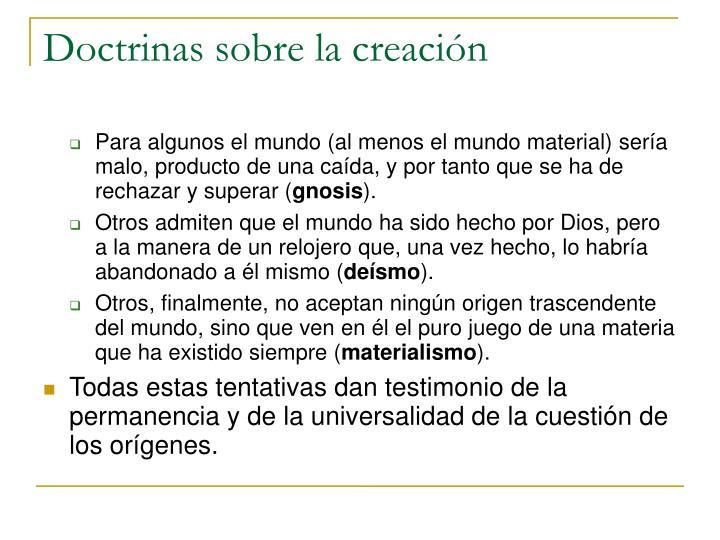 Doctrinas sobre la creación