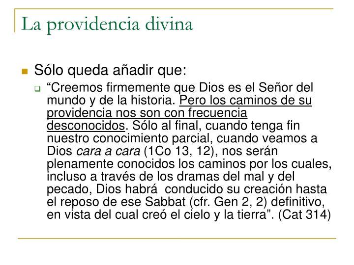 La providencia divina