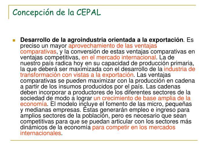 Concepción de la CEPAL
