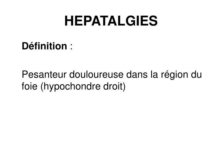 HEPATALGIES