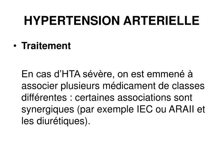 HYPERTENSION ARTERIELLE