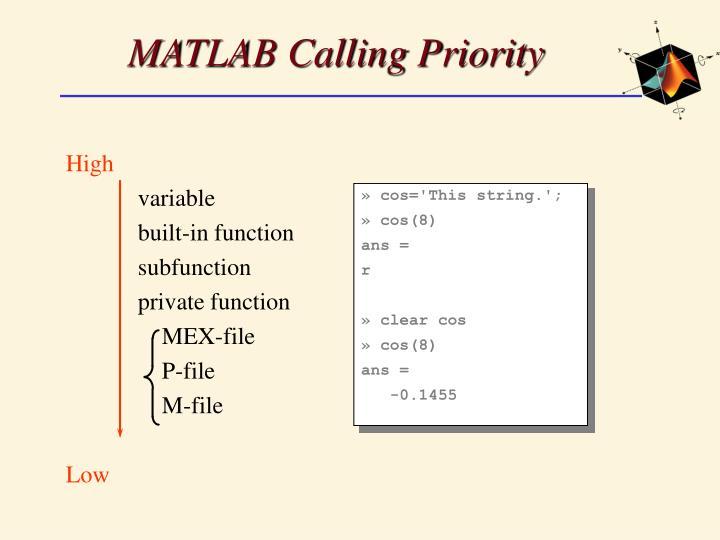 MATLAB Calling Priority