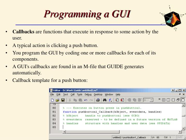Programming a GUI