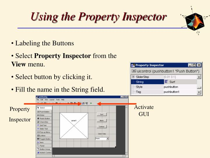 Using the Property Inspector